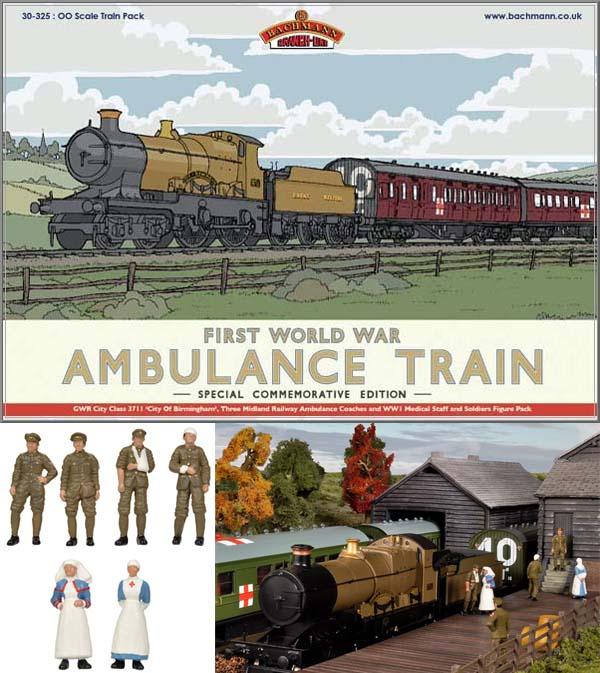 BACHMANN 30-325 1 76 OO SCALE WW1 Ambulance Train No 40